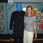 Iva a blue man