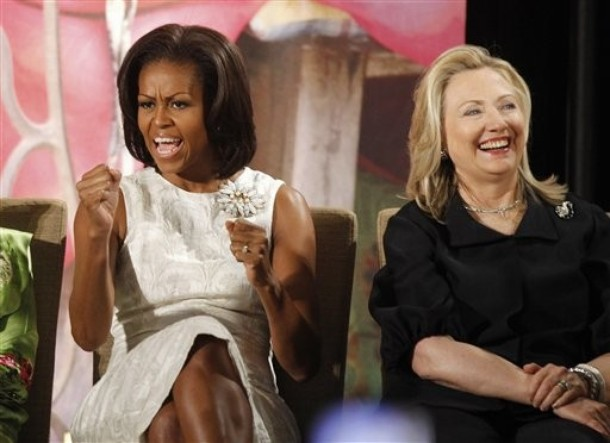 Michelle Obama, Hillary Rodham Clinton