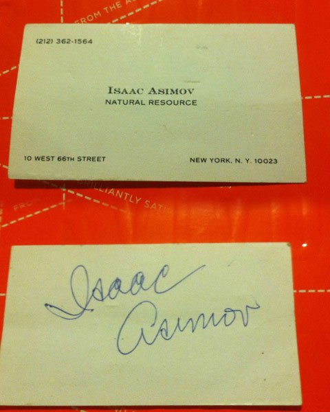 Asimov's business card